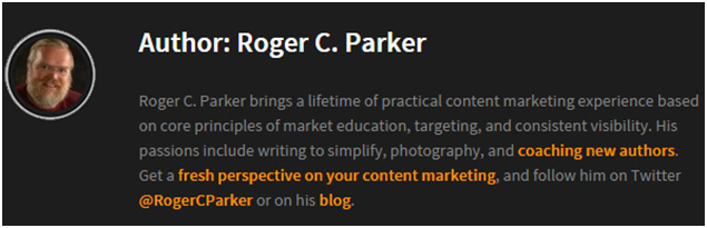 Roger C Parker - content marketing
