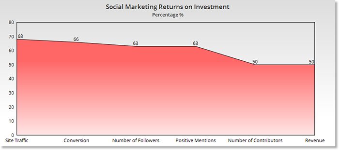Social media ROI by percentage